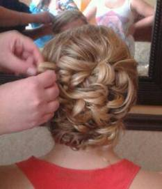 wedding day hair