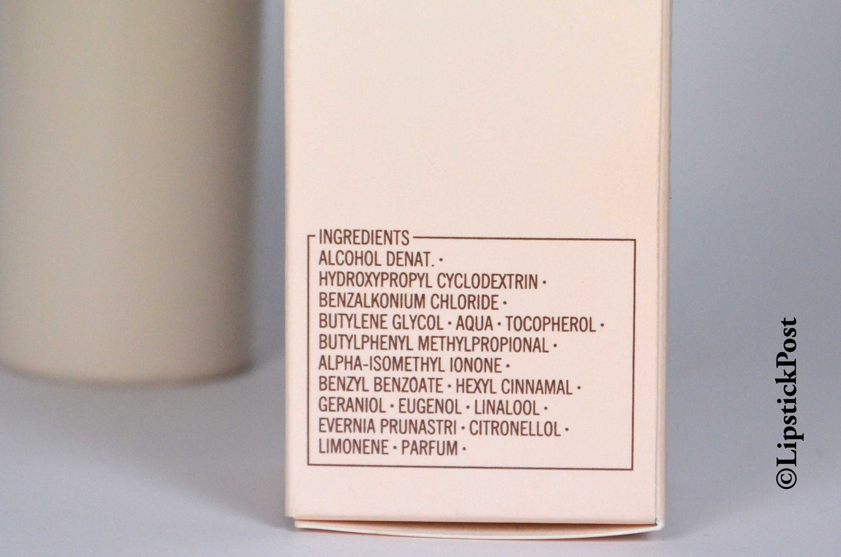 INCI-Shiseido-Deodorant