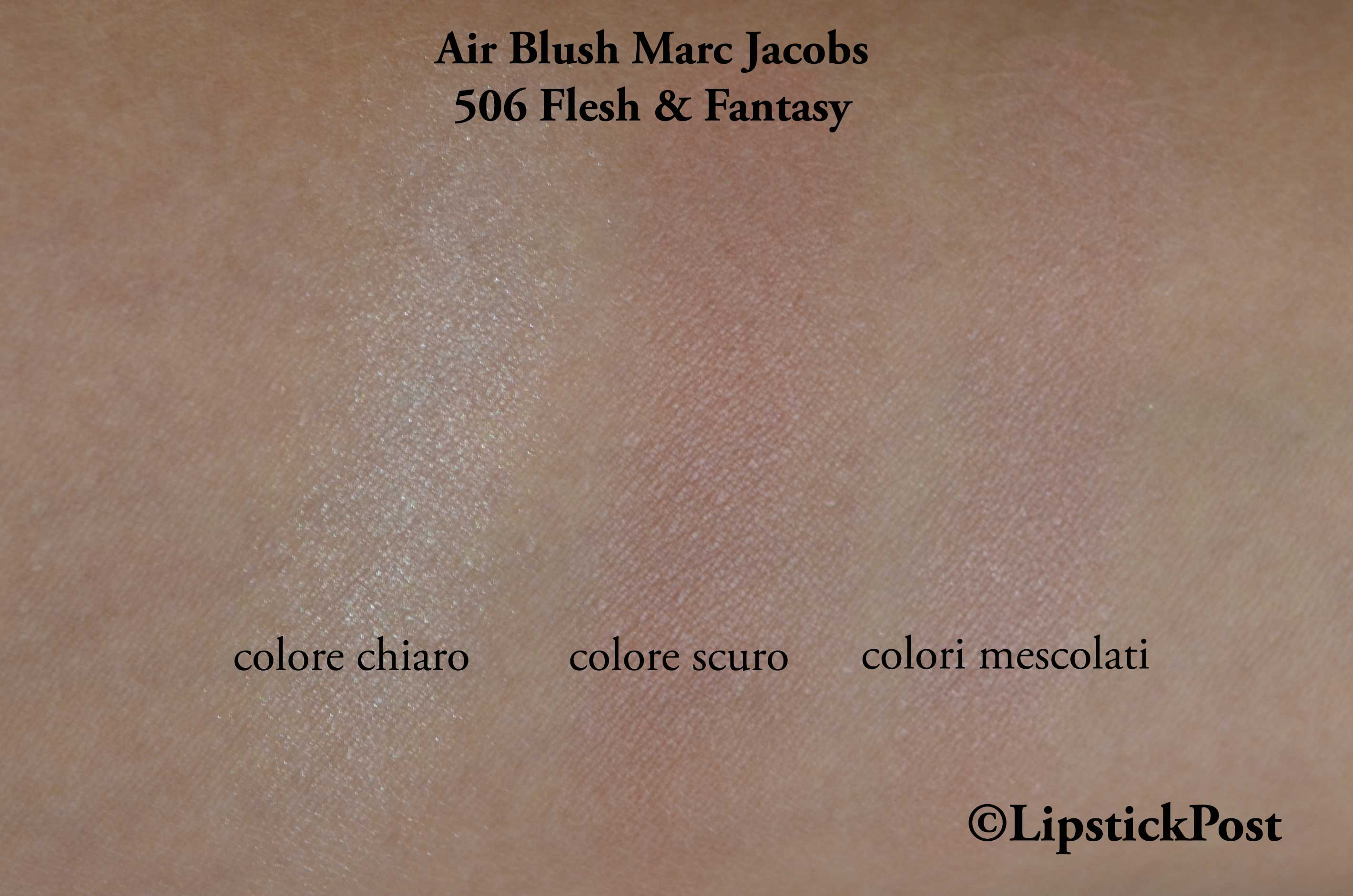 swatches Air Blush Marc Jacobs