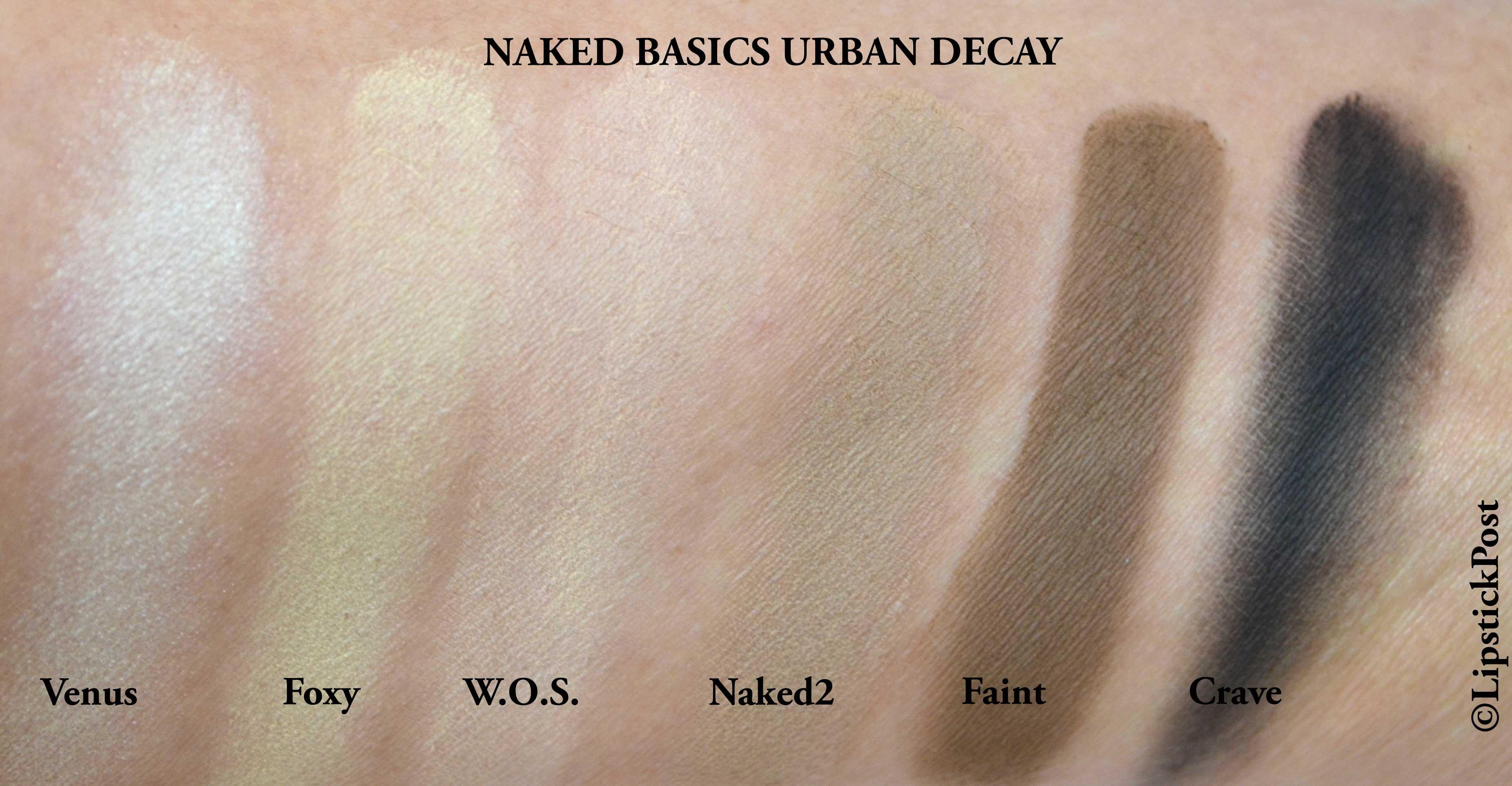 swatches Naked Basics