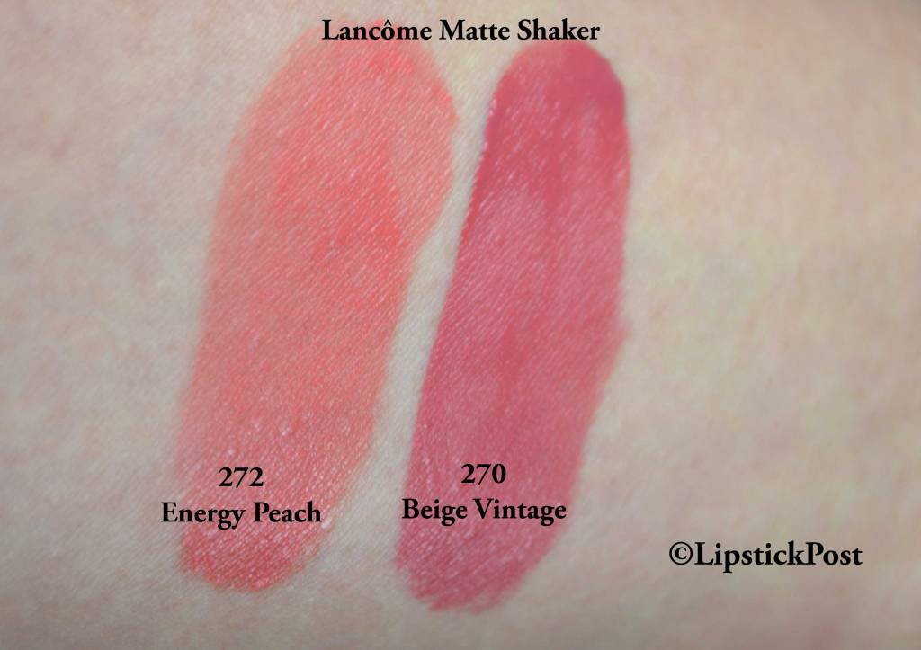 Swatches Matte Shaker Lancome