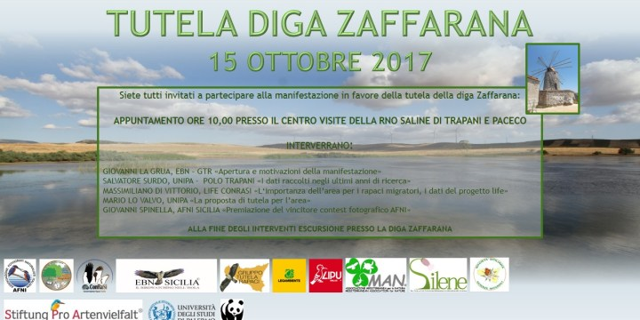 MANIFESTAZIONE PER LA TUTELA DELLA DIGA ZAFFARANA (TP) – DOMENICA 15 OTTOBRE 2017