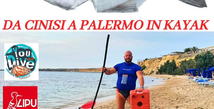 28 agosto 2020, attività raccolta rifiuti R.N.O. Isola delle Femmine con Ciccio Kayak!