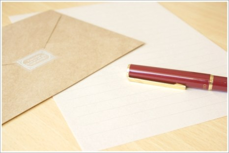 手紙、ペン