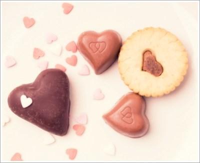 バレンタイン、食品、クッキー、ハート
