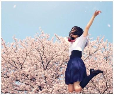 高校生、春、桜、学生