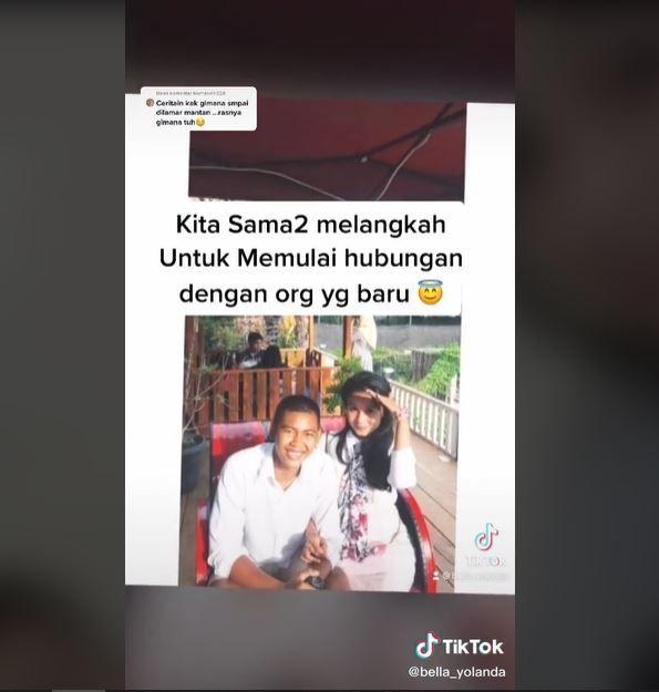 Dua Tahun Pisah, Wanita Ini Malah Kembali Dilamar Mantan (tiktok.com/@bella_yollanda)