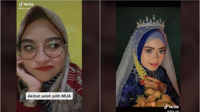 Pakai MUA Pilihan Mertua, Makeup Pengantin Wanita Ini Berujung Gagal