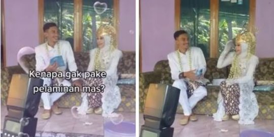 Viral Video Pengantin Tak Pakai Pelaminan & Dekorasi Resepsi, Alasannya Bikin Salut   merdeka.com