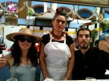 Comiendo mole con Frida Kahlo!