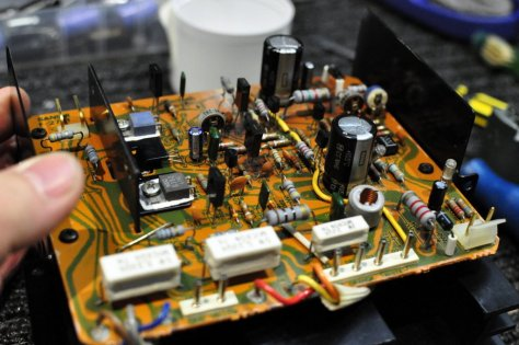 DSC6001 Sansui AU-717 Integrated Amplifier Repair & Restoration
