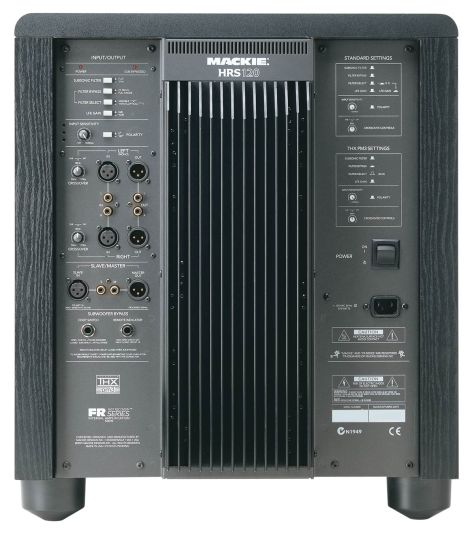 HRS120_Rear Mackie HRS120 THX Studio Subwoofer For Sale