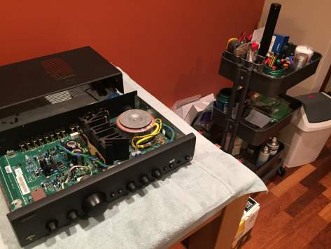 IMG_2820 Arcam Alpha 9 Integrated and Power Amplifier Service