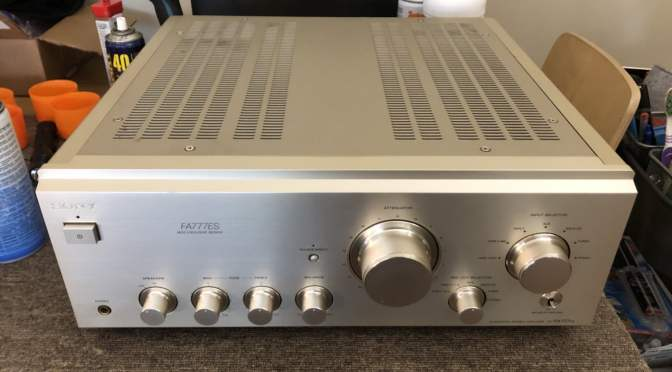 Stunning Sony TA-FA777ES Integrated Amplifier Service