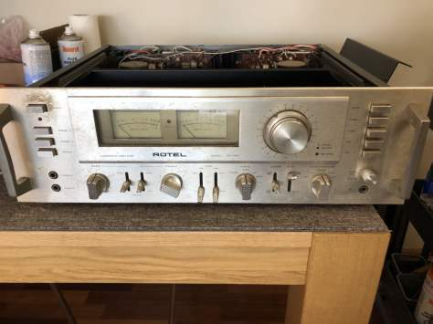 img_1720-1 Stunning Rotel RA-1412 Amplifier Cleaned, Serviced & for Sale!