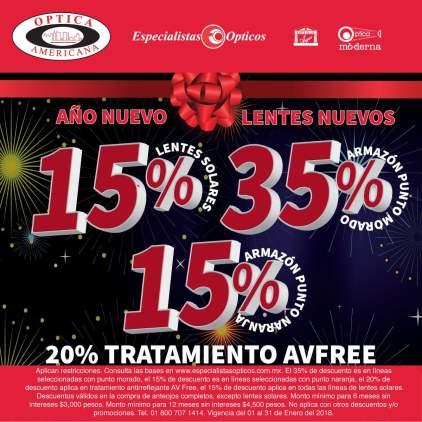 4fb0343233 Óptica Americana - Año Nuevo, Lentes Nuevos / Hasta 35% de descuento ...