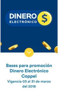 coppel recibe dinero electrónico en todas tus compras usando tu