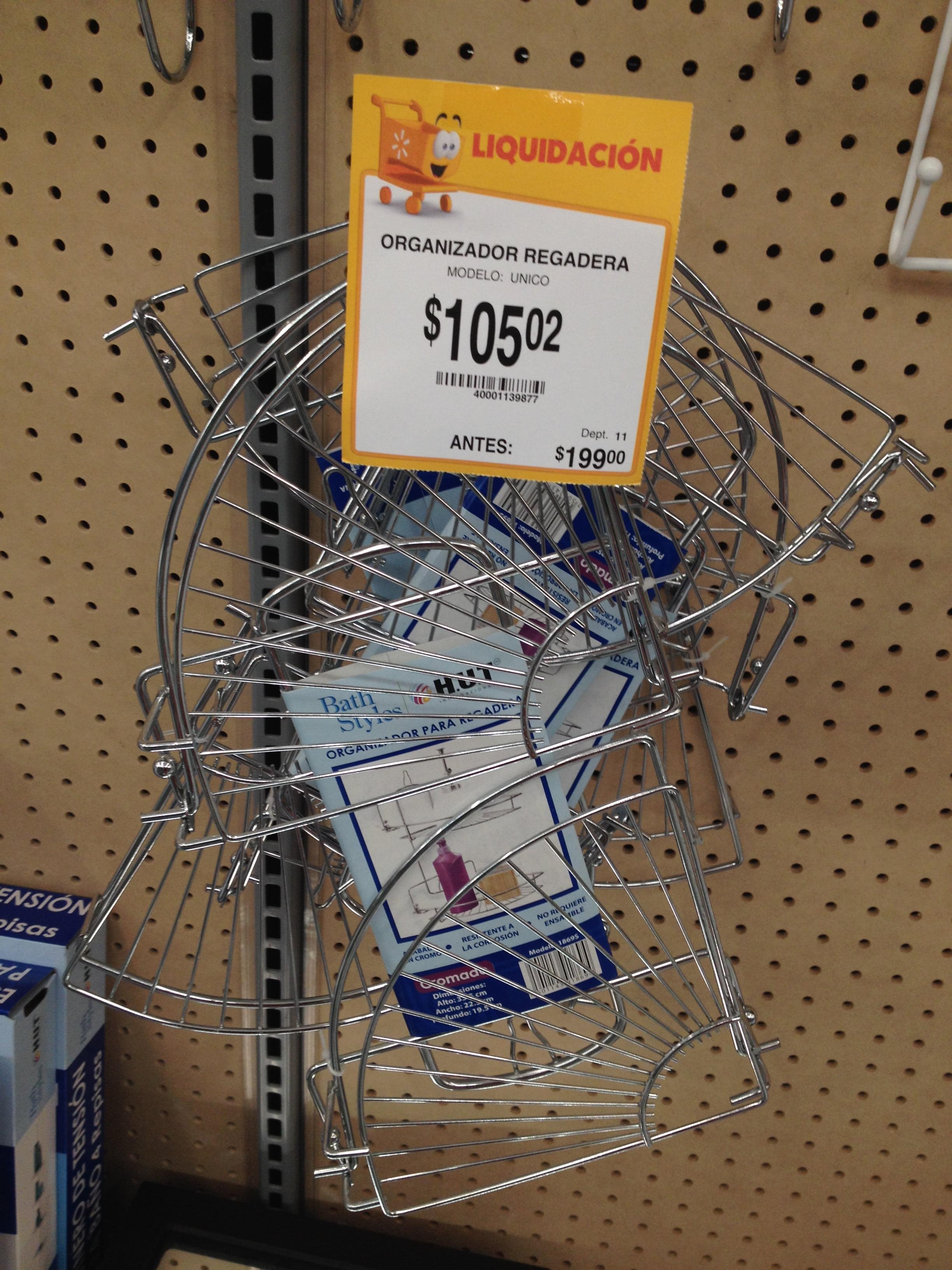 105.02 – Walmart – Organizador para regadera de la marca HUT con el 50% de  descuento… - LiquidaZona e13e7ed1b9b0