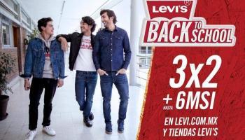 Levi s - Back to School 2018 - 3X2 + Hasta 6 MSI en prendas seleccionadas de d522cc57fad