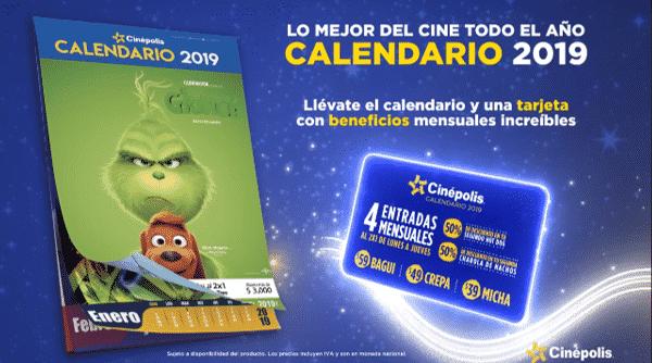 Cinépolis - Calendario Cinépolis 2019 / Entradas al 2X1, 50% de descuento y más a sólo $99...