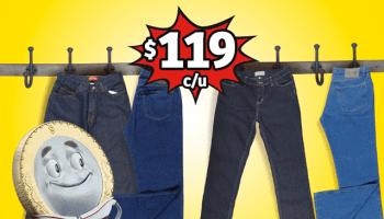 e6a5f16d70 Soriana Mercado y Express - Pantalones de mezclilla para caballero a  119.