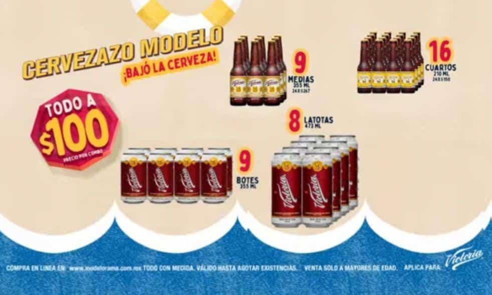 Modelorama – Cervezazo 2019 / regresa la promo $100: Precios especiales, combos y más en cerveza Victoria, Corona y Modelo...
