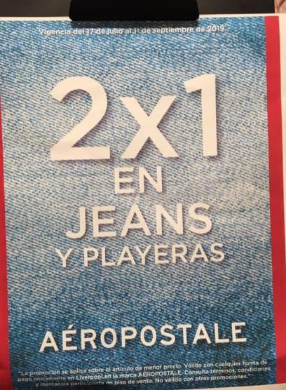 Liverpool 2x1 En Jeans Y Playeras Marca Aeropostale Liquidazona