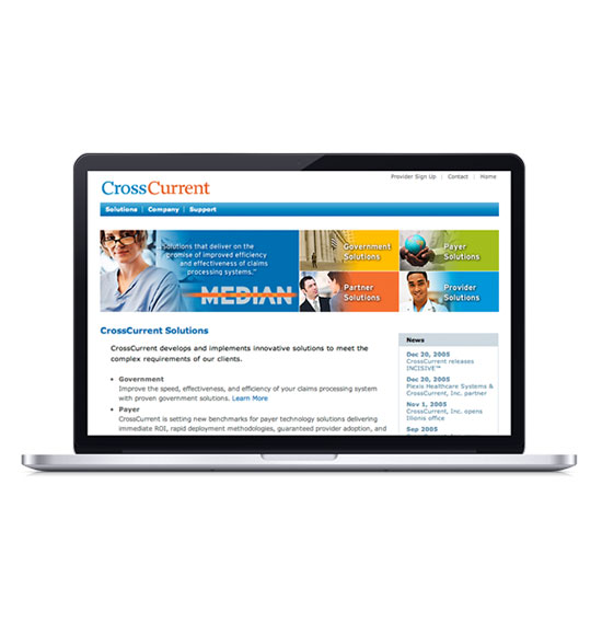 Cross Currents Website Design - Medical