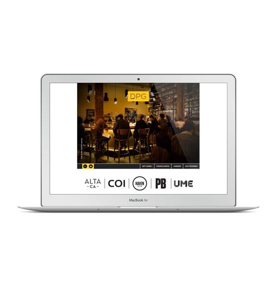 DPG WordPress Website - Restaurant