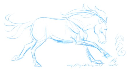 Canter Sketch