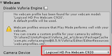 select webcam