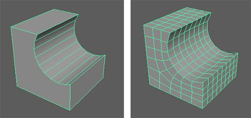 4角形フェースに分割
