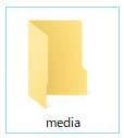 共有フォルダ「media」
