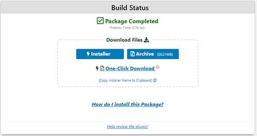 「Installer」と「Archive」をダウンロード