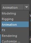 メニューの表示モードを「Animation」