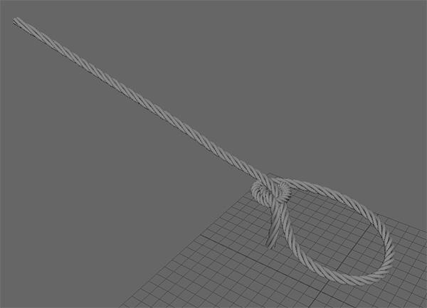 ロープに捻じりが加えられました