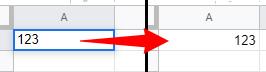 数字を入れるとセルの配置が右になる