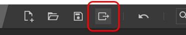 [Export]アイコンをクリック