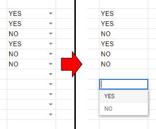 「▼」を表示にした場合は、該当するセルをダブルクリックするとドロップダウンリストが表示されます