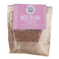 Rose Geranium and Green Tea Bath Tea Bag