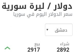 سعر الدولار في مدينة دمشق عند إغلاق يوم الأحد 17 كانون الثاني