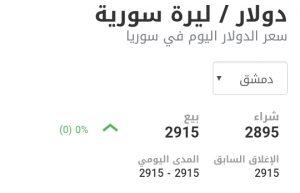 سعر الدولار في مدينة دمشق عند إغلاق يوم الخميس 21 كانون الثاني