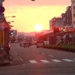 長岡花火の前に大手通でマンハッタンヘンジを楽しもう