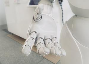 An image of a robot's outstretched hand