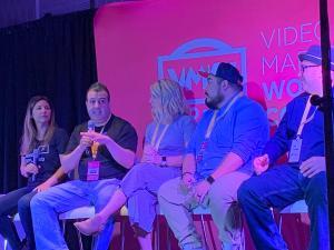 Liron on a panel at Video Marketing World