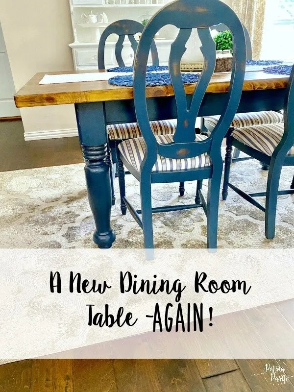 A new table and chairs again