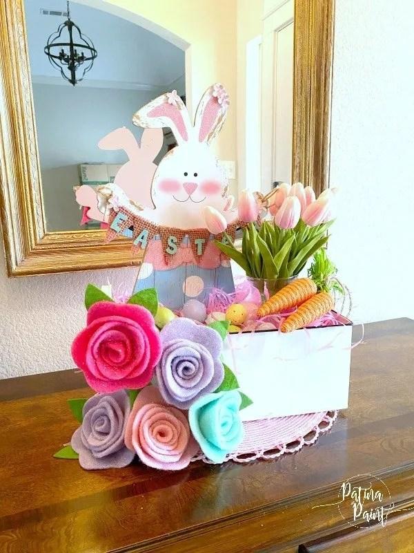 Dollar Tree Easter Bunny Centerpiece