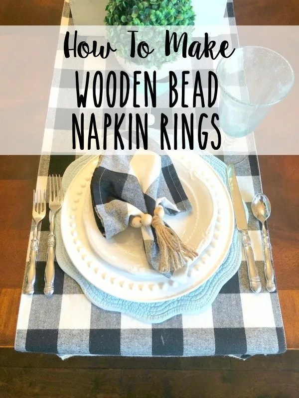 How to make wooden bead napkin rings