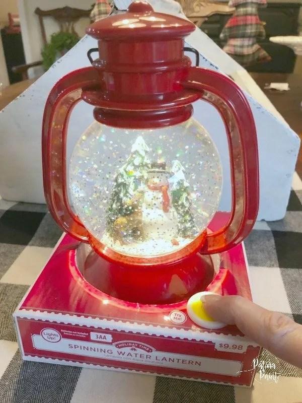 lantern snow globe