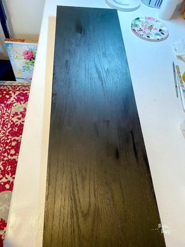 board painted black